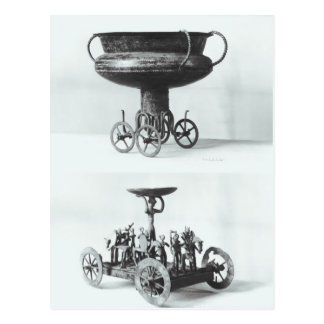 Two votive chariots for collecting rainwater postcard