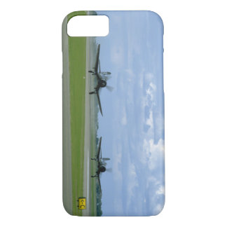 Two Vought F4U Corsairs, Landing_WWII Planes iPhone 8/7 Case