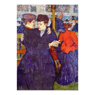 Two Waltzers by Toulouse-Lautrec Card