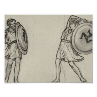 Two warring school students, Lawrence Alma-Tadema, Poster