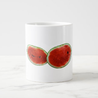 two watermelons graphic fruit photo large coffee mug