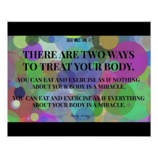 Two Ways to Treat Your Body: Bubbles Poster