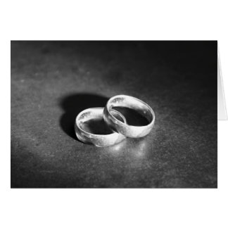 Two Wedding Bands Greeting Cards