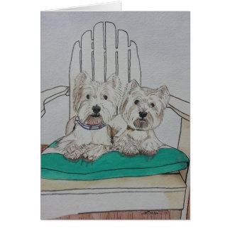 Two Westie Pals Card