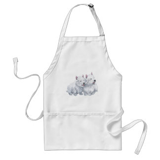 Two Westies Adult Apron