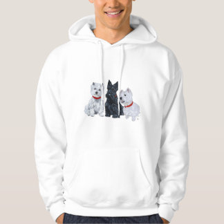 Two Westies and a Scottie Hoodie
