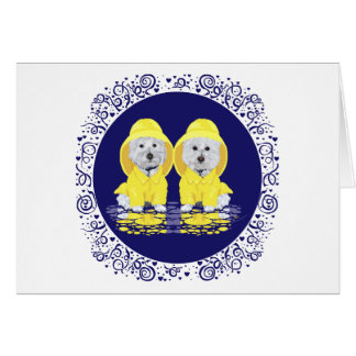 Two Westies April Showers Card