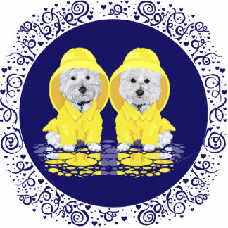 Two Westies April Showers Cutout