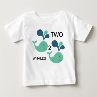 Two Whales For Counting Baby T-Shirt