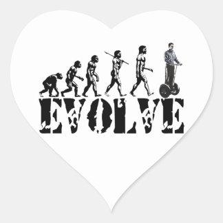 Two Wheeled Transportation Vehicles Evolution Art Heart Sticker