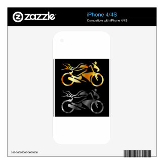 Two wheeler decal for the iPhone 4