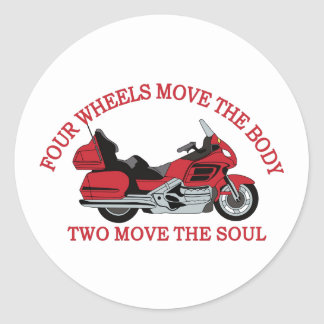 Two Wheels Classic Round Sticker
