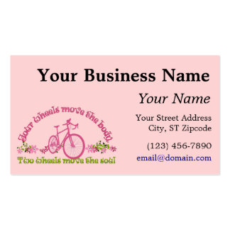 Two wheels move the soul business card
