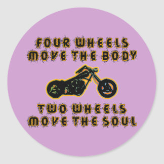 TWO WHEELS MOVE THE SOUL CLASSIC ROUND STICKER