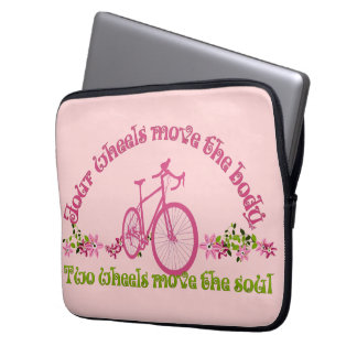 Two wheels move the soul laptop sleeves