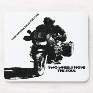 Two Wheels Move the Soul Mouse Pad