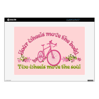 Two wheels move the soul skin for laptop