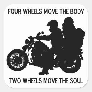 Two Wheels Move The Soul Square Sticker