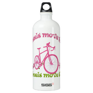 Two wheels move the soul water bottle