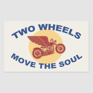 Two Wheels Rectangular Sticker