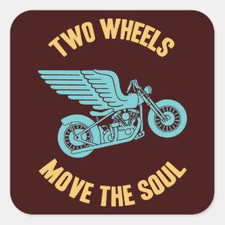 Two Wheels Square Sticker