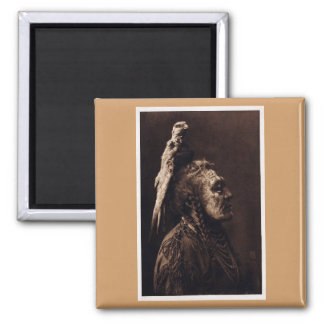 Two Whistles, a Crow Medicine Man. 2 Inch Square Magnet