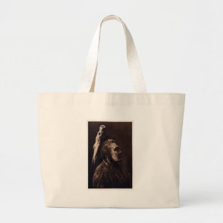 Two Whistles, a Crow Medicine Man. Canvas Bags