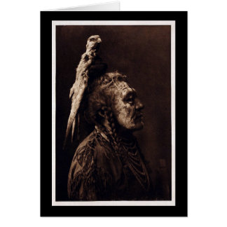 Two Whistles, a Crow Medicine Man. Card