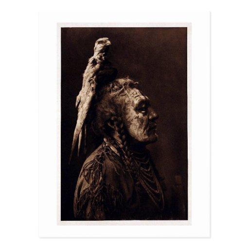 Two Whistles, a Crow Medicine Man. Postcard