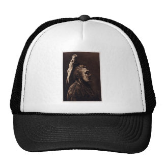 Two Whistles, a Crow Medicine Man. Trucker Hat