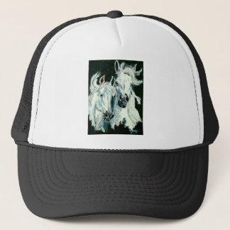 Two White Arabians Trucker Hat