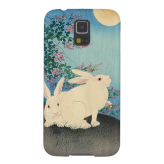 two white bunnies galaxy s5 cover
