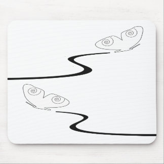 Two white, flying butterflies mousepad