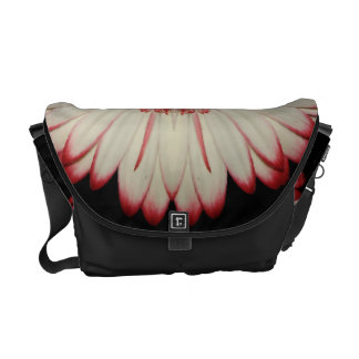 Two White Gerbera Daisies Courier Bag