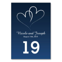 Two White Hearts intertwined Card