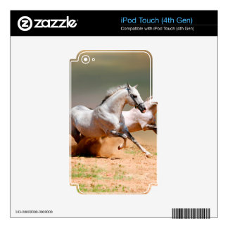 two white horses running decal for iPod touch 4G