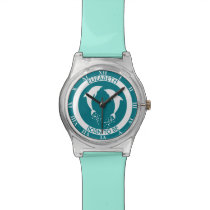 Two White Jumping Dolphins With Bubbles White Wrist Watch