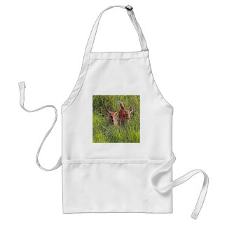 Two White Tail Deer Adult Apron