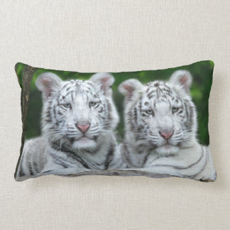 TWO WHITE TIGER CUBS PILLOW