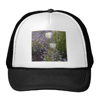 Two White Tulips Trucker Hat