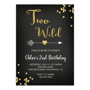 Two Wild Birthday Invitation
