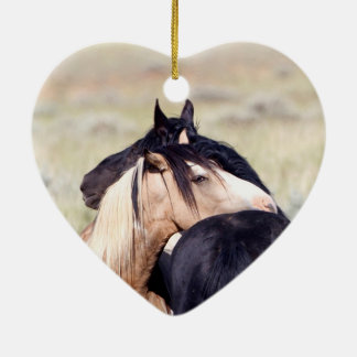 Two Wild Horses Horse Holiday Ornament