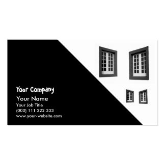 Two Windows Double-Sided Standard Business Cards (Pack Of 100)