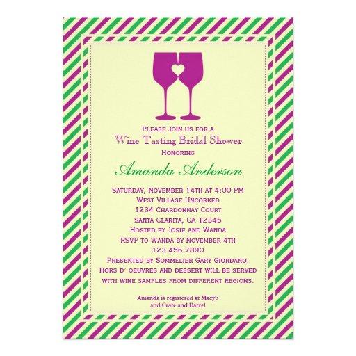 Two Wine Glasses Bridal Shower Invitation