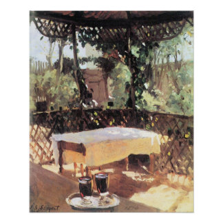Two Wine Glasses by Sargent, Vintage Impressionism Poster
