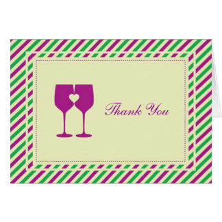 Two Wine Glasses Thank You Card