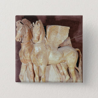 Two winged horses from the pediment of a button