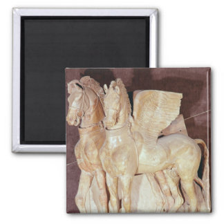 Two winged horses from the pediment of a magnet