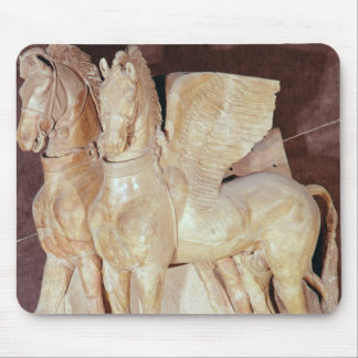 Two winged horses from the pediment of a mouse pad