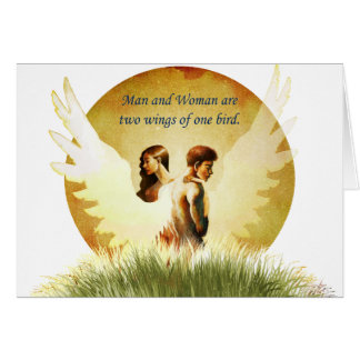 Two Wings Greeting Card